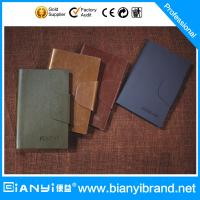 Buy cheap Loose-leaf A5 leather ring binder, PU leather notebook from wholesalers