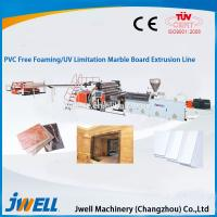 China Jwell PVC Free Foaming/UV Lmitation Marble Board Extrusion Line on sale