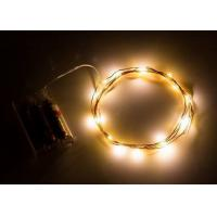 China Indoor Battery Operated LED String Lights , Warm White Mini String Lights on sale