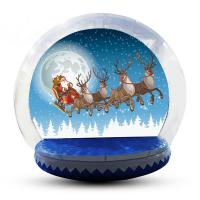Buy cheap Easy Access Entrance Tunnelinflatable Snow Globe Custom Color CE from wholesalers
