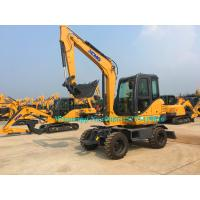 Buy cheap All Wheel Drive 4 Wheeled Mini Excavator , 6 Ton Excavator For Earth Moving XE60WA from wholesalers