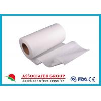 Plain Spunlace biodegradable non woven fabric , 50Gsm non woven material User Friendly Manufactures
