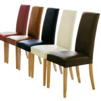 Plain Leather Chairs ( Solid Oak furniture) Manufactures