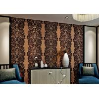 Buy cheap Luxury Waterproof Velvet Flock Wallpaper for Living Room , SGS CSA Certification from wholesalers