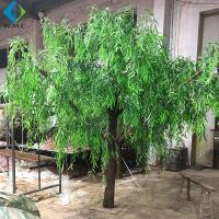 Wholesale Dense Faux Weeping Willow , Green Willow Tree For Greenery Landscape from china suppliers