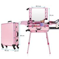 Buy cheap Pink Color Cosmetic Beauty Case , Professional Makeup Cases On Wheels from wholesalers