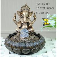 Buy cheap Indian Polyresin Water Fountain With Revolving Ball , Electricity Pump Power from wholesalers