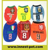 Wholesale Good quality easy dry wholesale football team world cup sports shirt for dogs from china suppliers