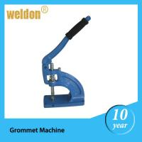 Buy cheap PVC fabric curtain Ebay Blue manual eyelet grommet machine with 4 mounting holes from wholesalers