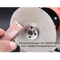 Wholesale Diamond Coated Flat Lap Disc Lapidary , diamond polishing wheel for jewels- zoe@moresuperhard.com from china suppliers