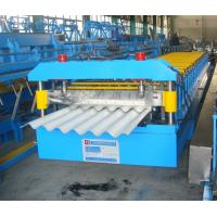 380V Sandwich Panel Line Corrugated Roof Panel Roll Forming Machine With Hydraulic Control System Manufactures
