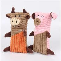 Buy cheap Lovely designed dog products pig and bull stuffed dog chew toy product