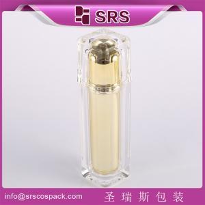 Shengruisi packaging L054-15ml 30ml 50ml 100ml luxury Square Plastic lotion pump Bottle