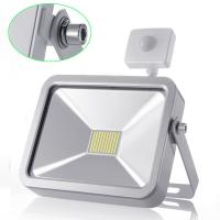 Quality 50W Cool White Outdoor LED Flood Lights With PIR Motion Sensor for Garden Lighting for sale