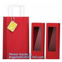Buy cheap luxury wine carrier bag,paper bag for wine,paper wine bag,Free Design!! Free Sample!!! flower carrier bag cheap brown pa from wholesalers