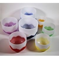 Buy cheap Chakra Lotus  Quartz Crystal Singing Bowls 8 inch  B 440HZ  Wholesale price Made In China from wholesalers