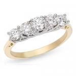 Buy cheap Diamond Ring(Diamond 5 Stone Anniversary 14K Gold Ring) from wholesalers