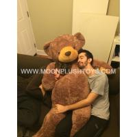 5 Feet Giant teddy bear shiny brown teddy bear plush fat teddy bear with big belly in large size Manufactures