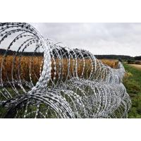 Wholesale Double Concertina Razor Wire , Concertina Wire Fencing For Fence And Isolation from china suppliers