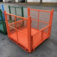 Buy cheap Metal Mesh Pallet Storage Bins Collapsible Pallet Containers Corrosion Protection from wholesalers