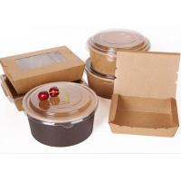 Buy cheap Biodegradable takeout fast food box paper bowl for burger, chicken,lunch from wholesalers