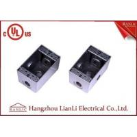Buy cheap 1/2 3/4 Two Gang Electrical Box Waterproof Terminal Box Powder Coated , UL Listed from wholesalers
