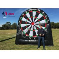 Buy cheap Customized Outdoor Giant Inflatable Sports Equipment Black Soccer Dart Board from wholesalers