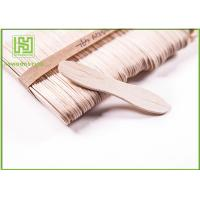 Customized Birch Wooden Ice Cream Sticks Craft For Toddlers 114MM with Natural Color Manufactures