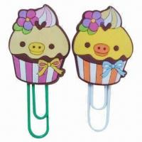 Wholesale Cute Paper Clips/Bookmarks with Novel Design, Made of Soft PVC, Good for Gifts and Promotions from china suppliers