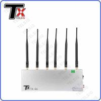 Buy cheap 6 Channel Desktop Wireless Signal Jammer For Prison / Museum / Concert from wholesalers