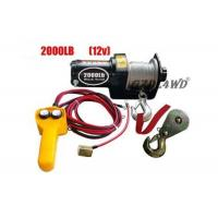 Buy cheap 12V 2000LB Heavy Duty Electric Winch Truck With ATV Rope Wireless Remote from wholesalers