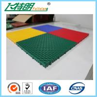 Easy Installation Interlocked Rubber Floor Tiles For Volleyball Court Manufactures