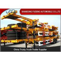 Buy cheap 40 Feet Flatbed Skeleton Shipping Container Trailer Mechanical / Air Suspension from wholesalers