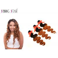 Buy cheap Long #1B30 Colored Virgin Brazilian Hair 3 Bundles For Black Woman Hand Tied from wholesalers