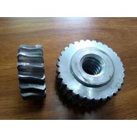 Buy cheap Customized Precision forged metal worm Gear Hobbing Services support  zinc plated from wholesalers