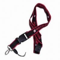 Wholesale Lanyards with Full-color Logo Printing, Made of Polyester, Customized Logos and Designs Welcomed from china suppliers