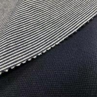 Buy cheap 68%polyester32%cotton quilted face polyester double faced interlock stripe fabric for sportswear from wholesalers