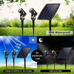 Buy cheap Solar Led Portable Motion Sensor Light 2 Head Spot For Garden Park Pathway Lighting from wholesalers