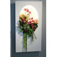 Buy cheap Colorful lighted Artificial Succulent Wall Panel Plastic Vertical Garden for product