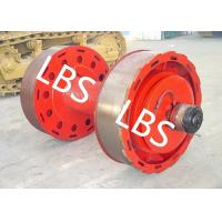 China 10ton 20ton Smooth Wire Rope Winch Drum With Split Type Lebus Groove Sleeve on sale