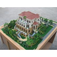 Villa model with landscape and led light , miniature house model Manufactures