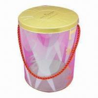 Buy cheap Gift Tin Bucket with Printing and Logo, Nice Design from wholesalers