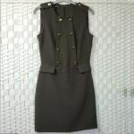 Buy cheap Plain Style Ladies Elegant Dresses , Flap Zipped Sleeveless Long Vest Coat from wholesalers