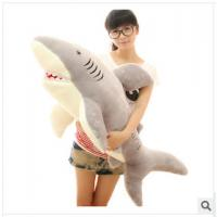 Buy cheap 70cm lovely cartoon shark stuffed toy soft plush shark toy baby soft toy from wholesalers