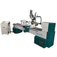 Buy cheap Double Axis Automatic Woodworking Machine / CNC Wood Turning Lathe from wholesalers