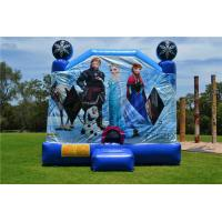 Buy cheap OEM Printing Inflatable Bouncer Slide , Commercial Disney Frozen C4 Combo Jumping Castle from wholesalers
