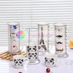 Buy cheap 320ml cute coffee mugs monogram mug discount mugs custom ceramic mugs personalized Four stacked cups from wholesalers
