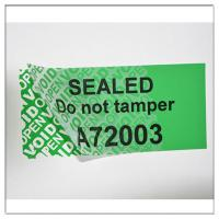 Buy cheap custom void label material;anti-counterfeit warranty seal label with serial number from wholesalers