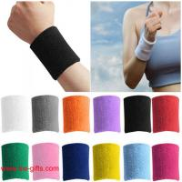 Buy cheap Sport wristband Unisex Cotton Sweat Band Sweatband Arm Band Wristband Tennis Basketball from wholesalers