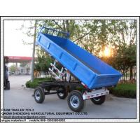 Buy cheap Farm used tractor tipping trailer for sale farm dump trailer for tractor from wholesalers